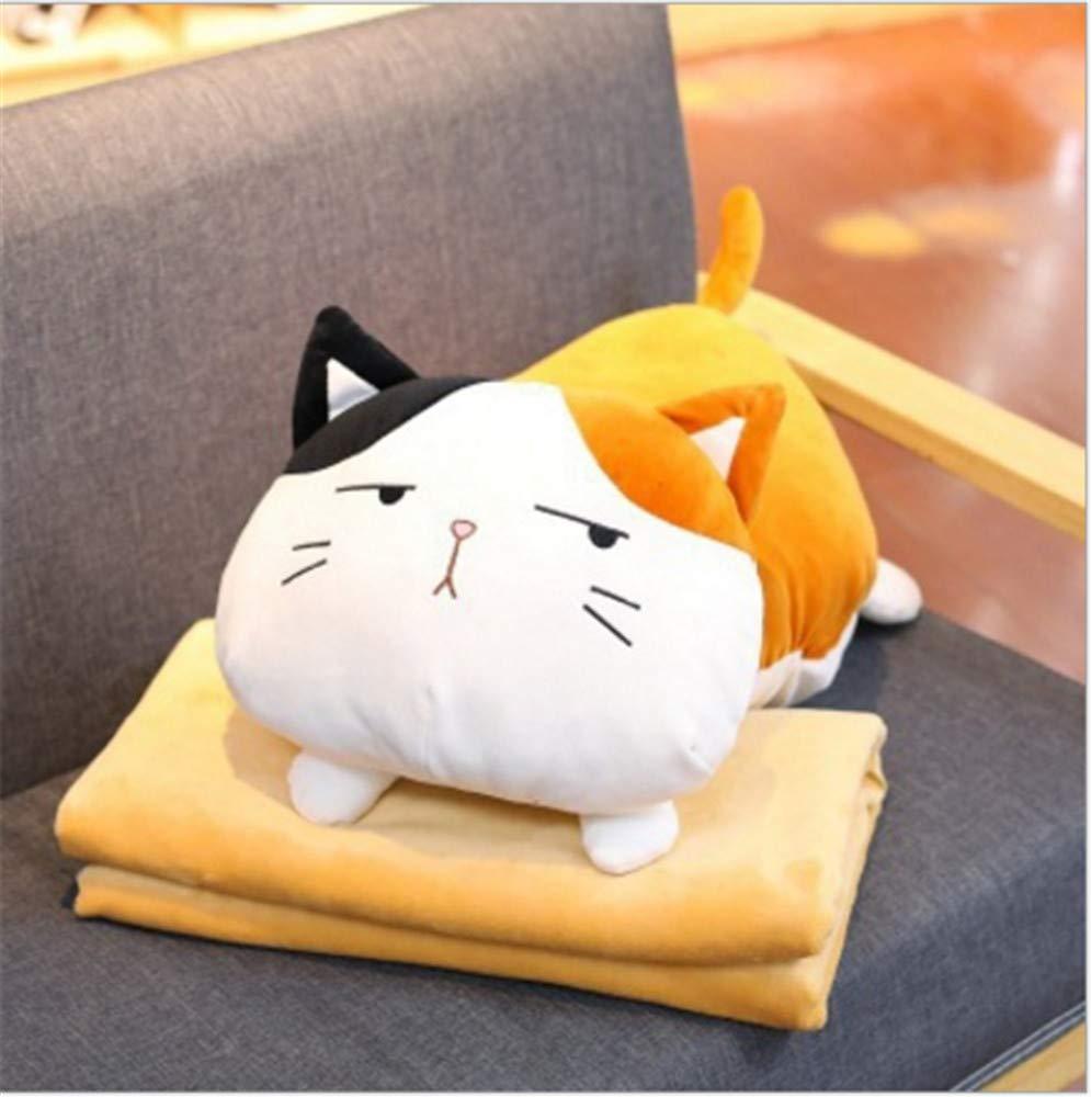 Almohada de gato con manta para sofá