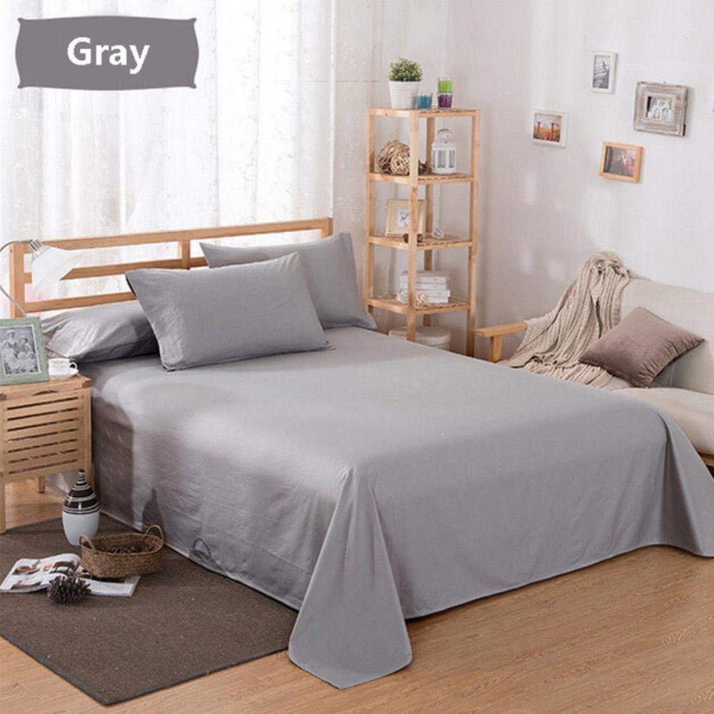 HHOME 1PC Large Size 160//200// 250x230 cm Bed Fitted Sheet Cover Solid Color Full Twin Full King Bed Sheets,Brown,48x74cm Pillowcase