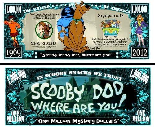Anime Source Scooby Doo Cartoon Series Animation Commemorative Novelty Million Bill with Semi Rigid Protector