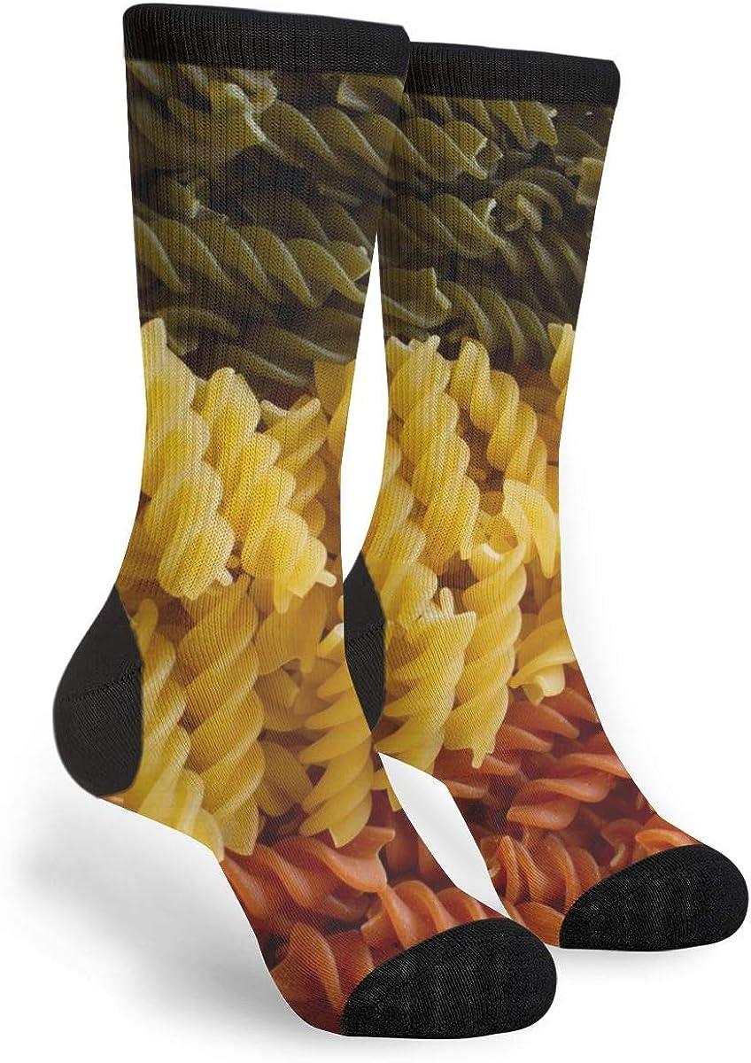 Women's Men's Fun Novelty Crazy Crew Socks Italian Food Pasta Dress Socks