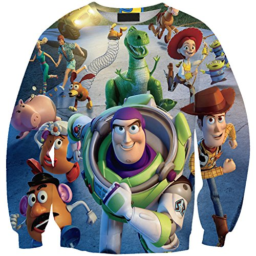 Lady Queen Women's Toy Story 3d Print Roll Neck Pullover Sweatshirt Size M -