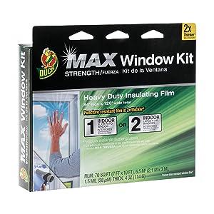 Duck MAX Strength Heavy Duty Insulating Film for Patio Door/Extra Large Window, 84-Inch x 120-Inch, Indoor, 284352