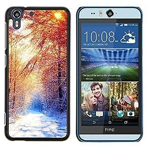 Stuss Case / Funda Carcasa protectora - Invierno Hermoso Forrest - HTC Desire Eye M910x
