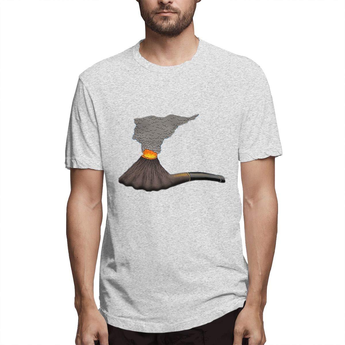 Amazon com: LANBRELLA Mens A Smoking Tobacco Pipe Sweat T-Shirt