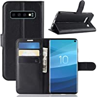 """for Samsung Galaxy S10E 5.8"""" inch Wallet Case, Leather Wallet Card Holder Shockproof Protective Flip PU Case Cover for Samsung Galaxy S10E 2019 (Black)"""