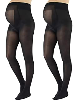 8e0690bf83a2e CALZITALY - 2 PAIRS Semi Opaque Maternity Tights, Pregnancy Tights,  ComfortableMaternity…