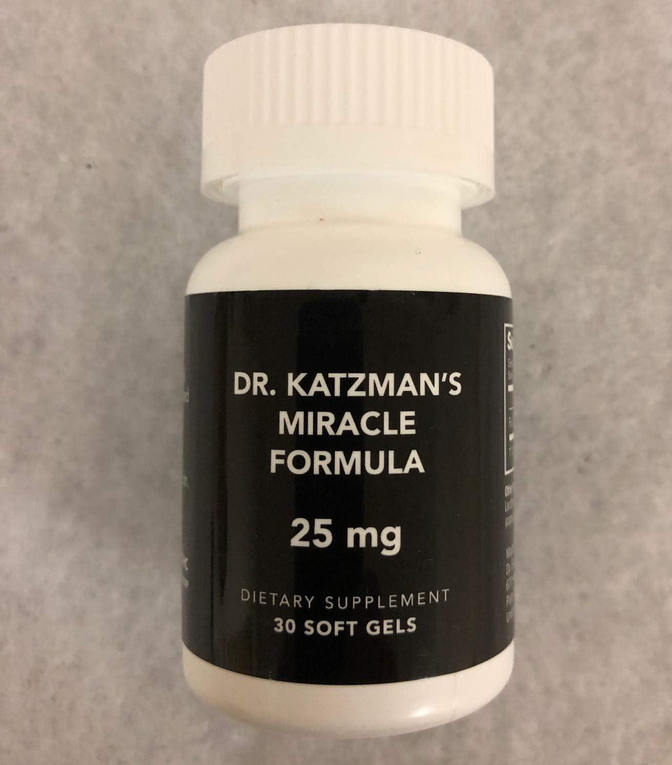 Dr. Katzman's Miracle Formula 25mg Hemp Oil Extract Soft Gels