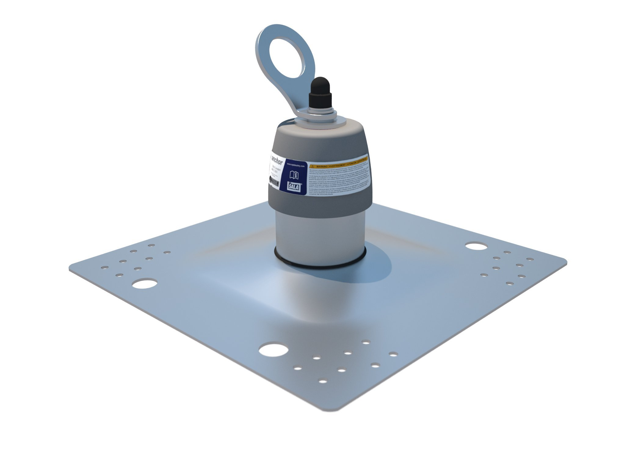 3M DBI-SALA 2100139 Roof Top Anchor for Standard Membrane and Built-Up Roofs with Weather Proofing Shroud, Silver