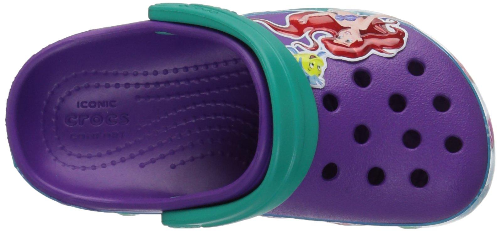 Crocs Girls' CB Princess Ariel K Clog, Amethyst, 13 M US Little Kid by Crocs (Image #8)