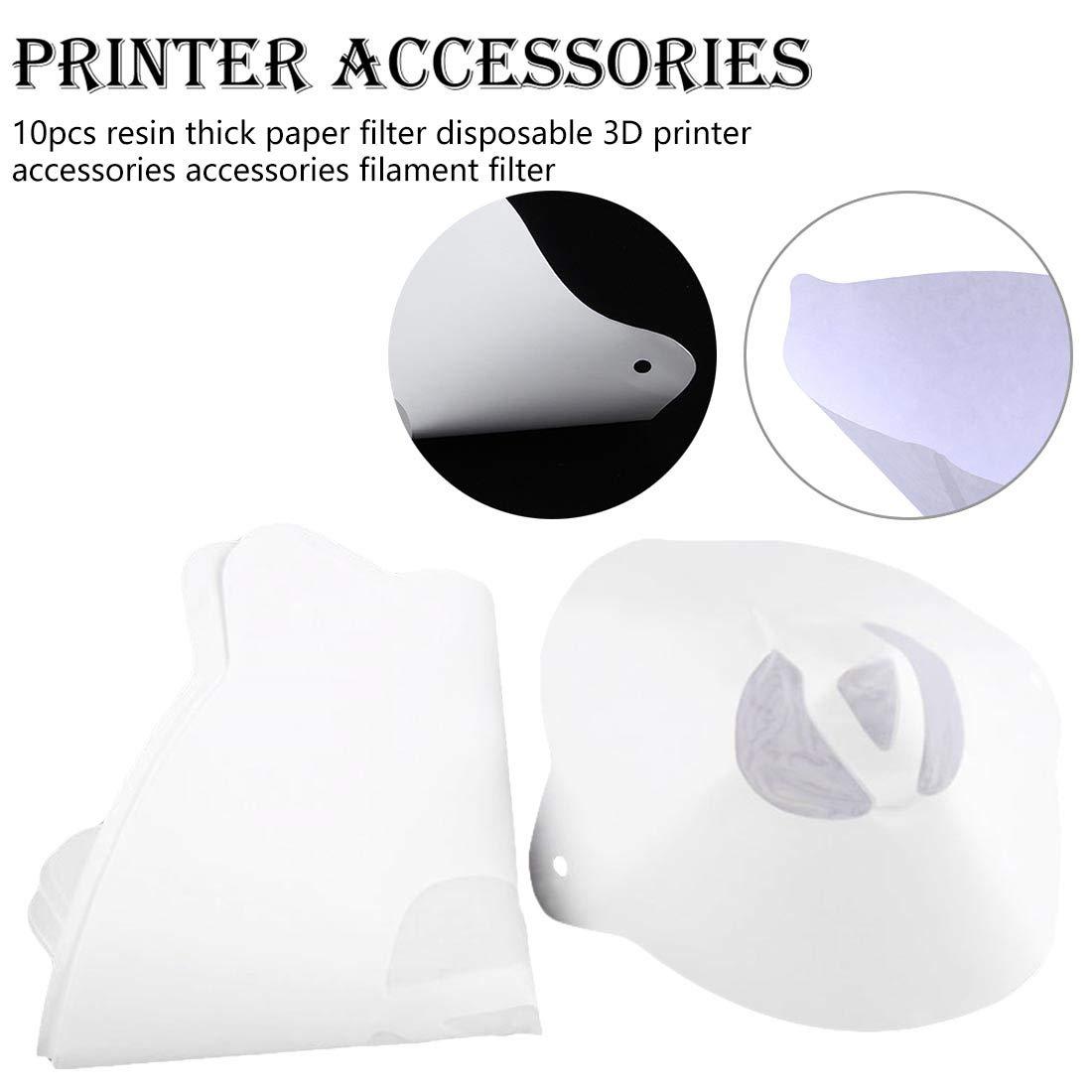 10 unids resina de filtro de papel grueso desechable 3D accesorios ...