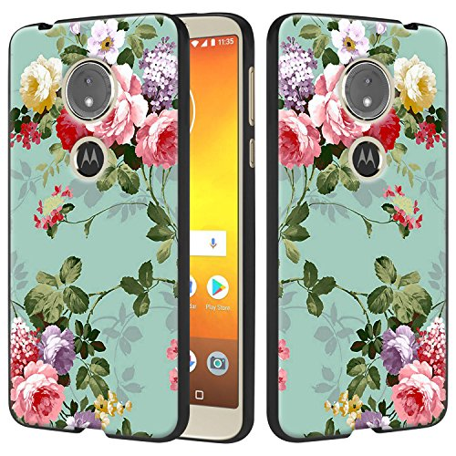 Moto G6 Play Case, Moto G6 Forge Case, Lacass Slim Air Armor Thin Fit Silicone Gel Soft TPU Bumper Durable Flex and Easy Grip Case for Motorola Moto G Play 6th Gen (XT1922) - Peony