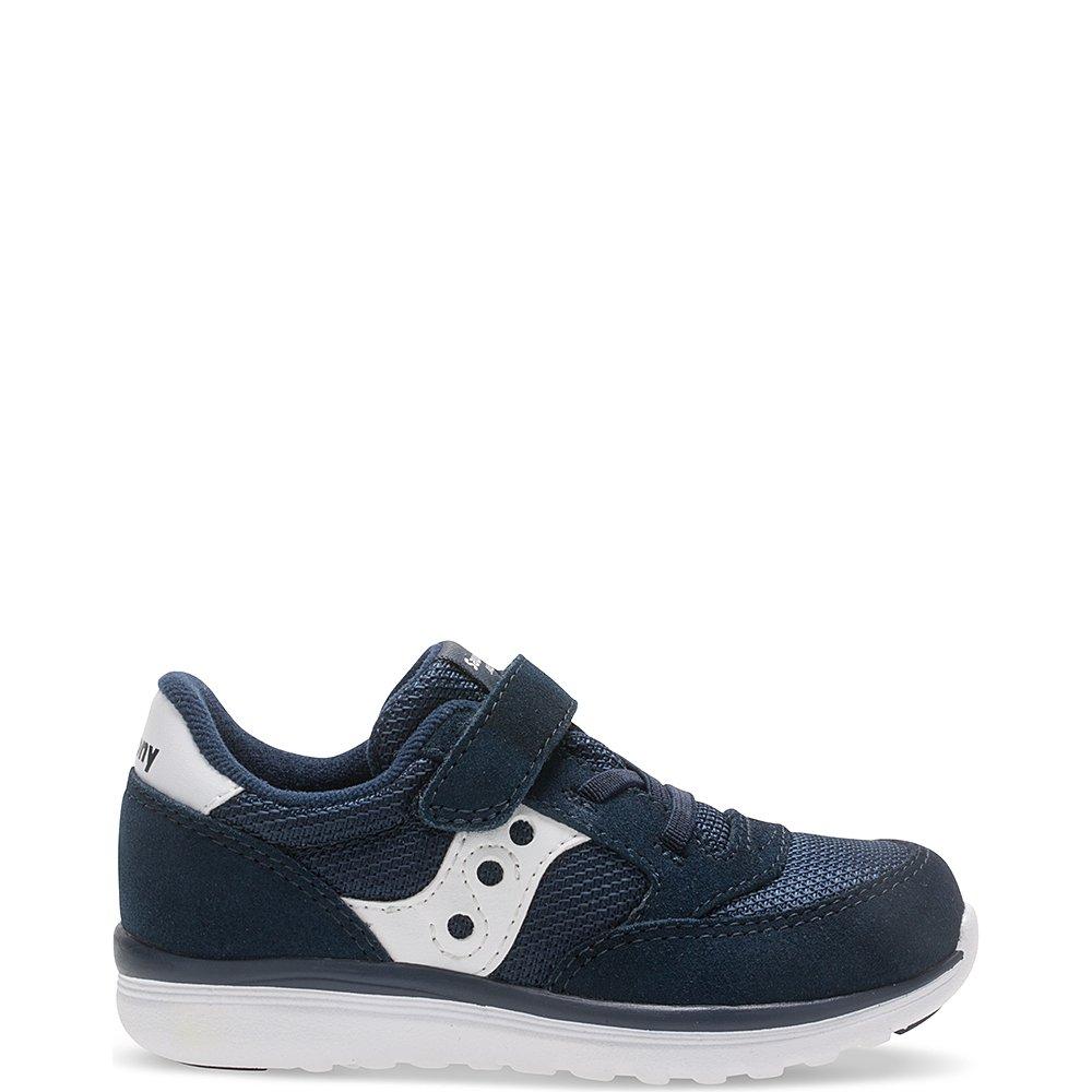 Saucony Baby Jazz Lite Sneaker (Toddler/Little Kid/Big Kid), Navy/White, 8 M US Toddler