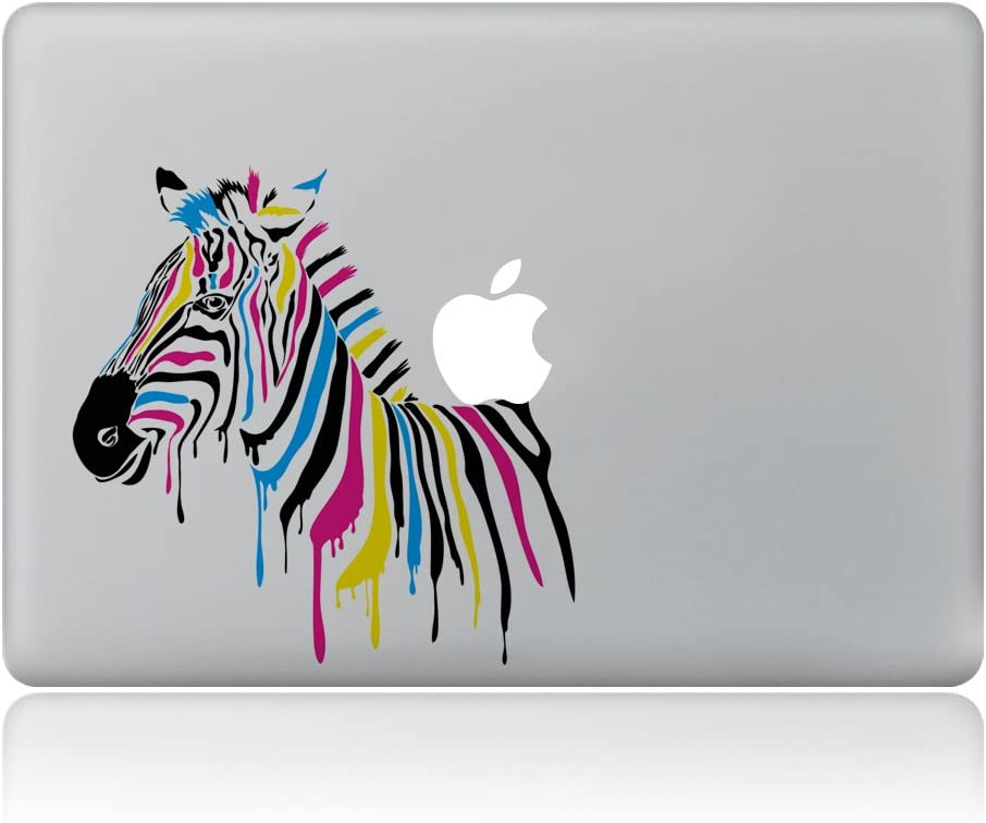 "Kiseki MacBook Sticker Watercolor Zebra Laptop Notebook Decal Skins Stickers Fit for MacBook Air Pro Retina 13""/Hp/Lenovo/Dell/Compaq/Asus/Acer/Samsung/Surface Book(13"")"