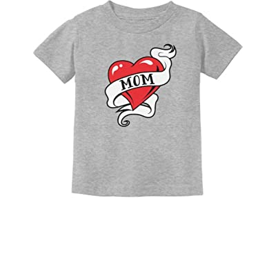 0a56a8c57 Tstars Mom Heart Tattoo For Mother's Day Love Mom Toddler/Infant Kids T- Shirt