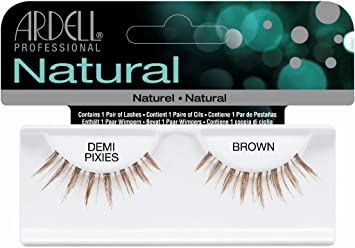 60190be6757 Amazon.com : Ardell Invisibands False Eyelashes - Demi Pixies Brown (Pack  of 6) : Beauty