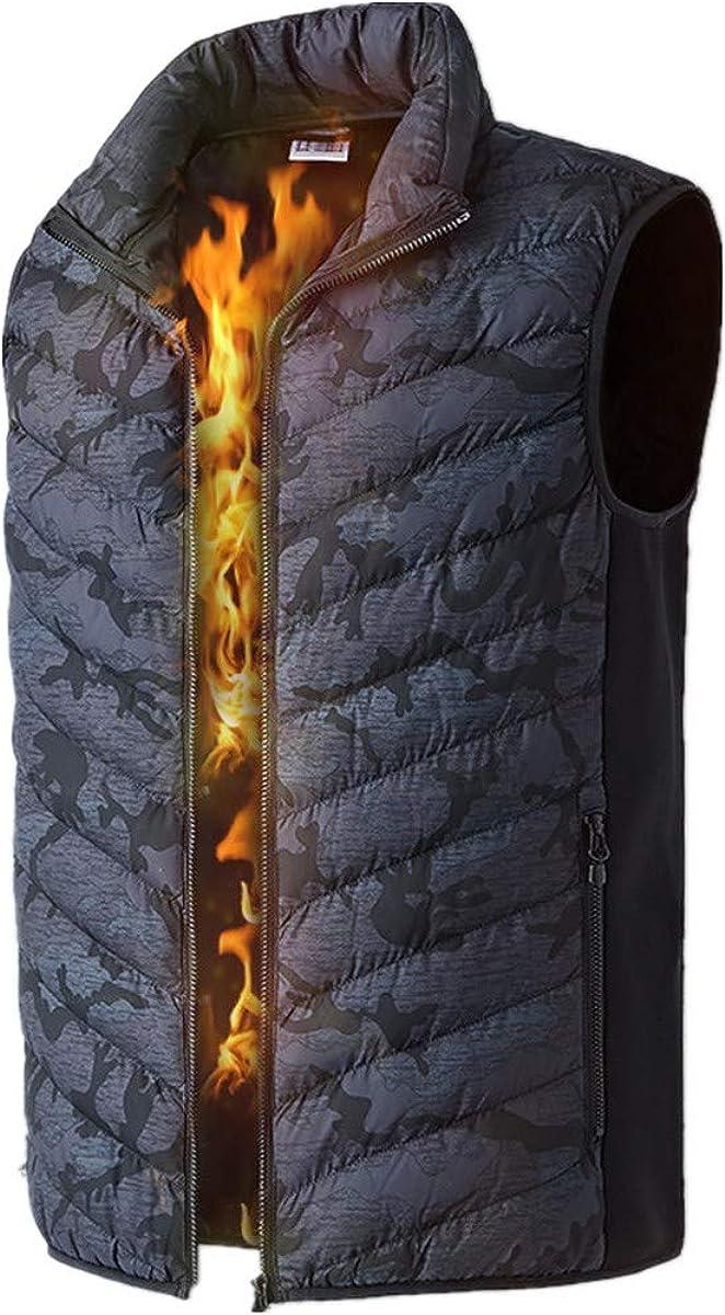 Blingko Beheizte Weste Waschbar Heat Jacke Tuch f/ür K/örperw/ärmer in kalten Winter Outdoor Aktivit/äten Jagd Camping Wandern Skifahren passt M/änner FrauenBergsteigerweste 25/°~ 45/°Outwear L-6XL
