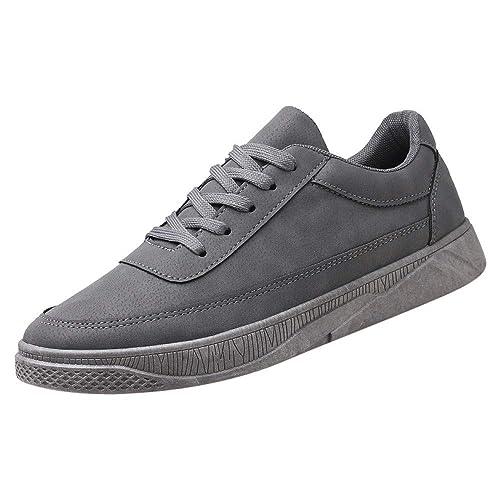 ALIKEEY Hombres Casual Zapatos De Viaje Running Zapatos De Cordones Planos con Zapatillas De Deporte: Amazon.es: Zapatos y complementos