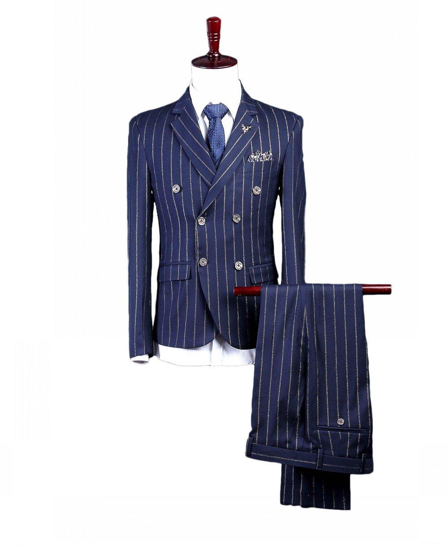 Love Dress Men's Slim Fit 3-Piece Suit Blazer Jacket Tux Vest & Trousers 5XL