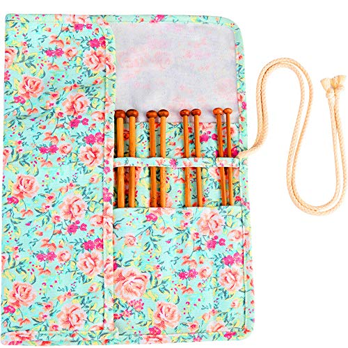 (Bamboo Knitting Needles Set Knitting Needle Case Knitting Kits Tools Supplies for Beginner or Professinal +❤️Knititng Case❤️)