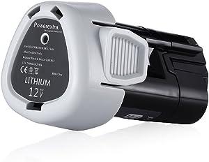 Powerextra 2500mAh 12-Volt MAX Lithium-Ion Replacement Battery Compatible with Black & Decker LBXR12 LBX12 LB12 BL1510 BL1310 BL1110 LB12 Battery