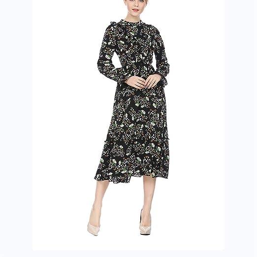HEYG-Dress Vestir Moda Casual Fashian Primavera y Falda Larga de ...