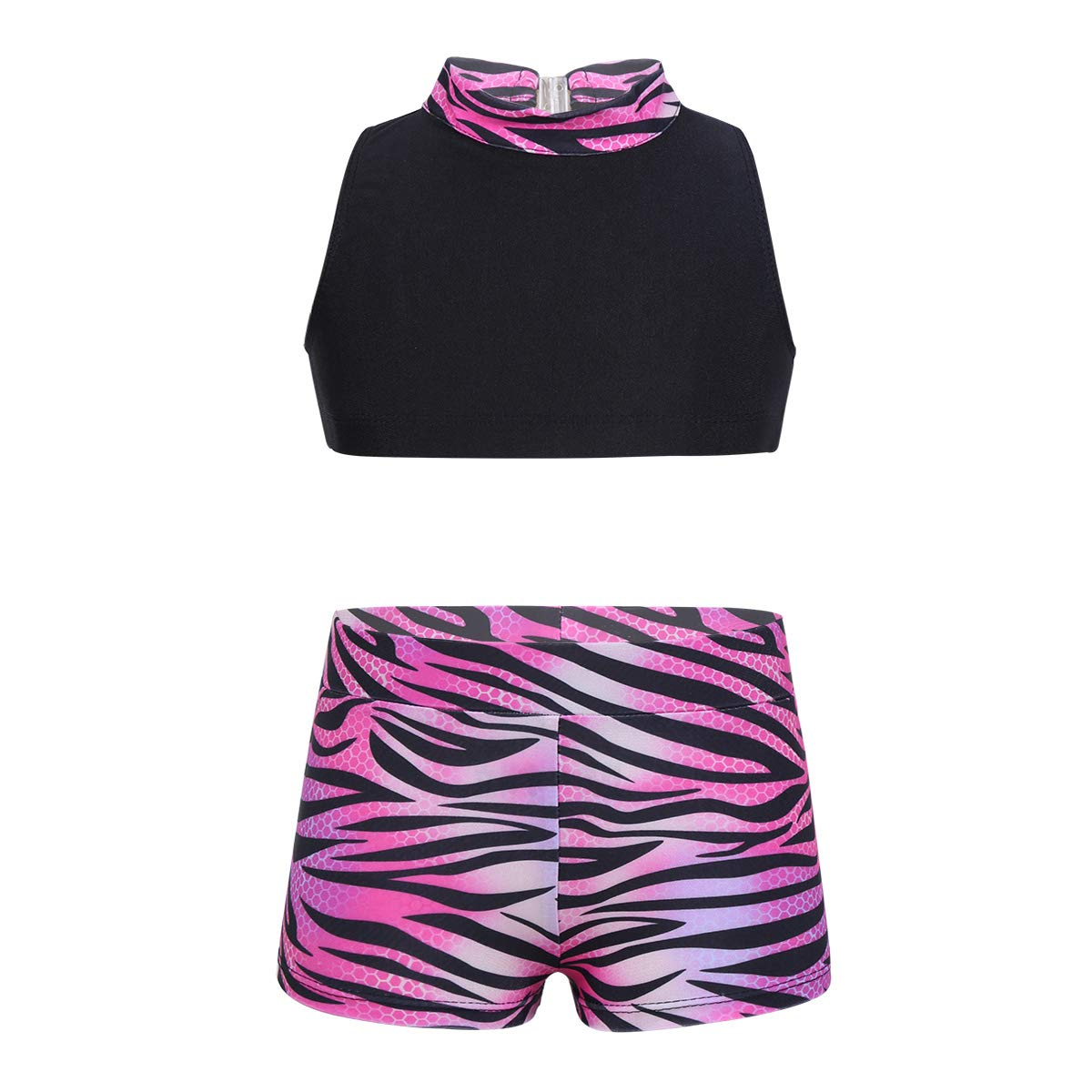 Agoky SOCKSHOSIERY ガールズ B07KYP9YQT 10-12|Rose Red Zebra-stripe Rose Red Zebra-stripe 43750