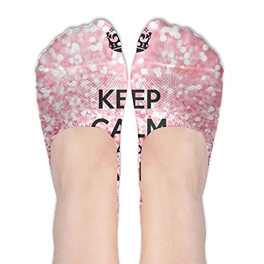 Women S Shoe Size In Inches.Keep Calm And Sparkle No Show Socks Liner Socks Low Cut Ped