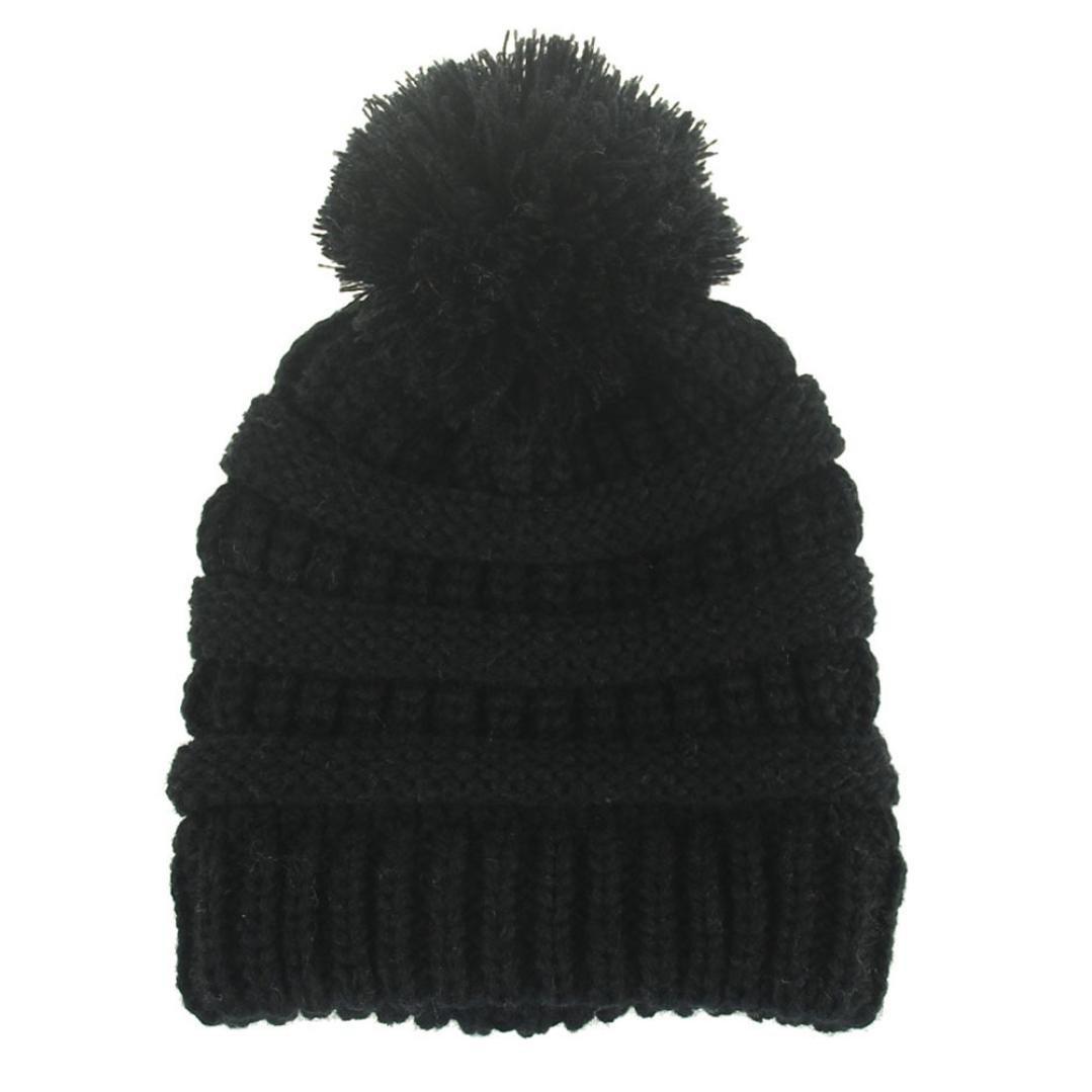 Gorras para bebé , Dragon868 Sombrero de lana de punto invierno caliente recié n nacido dobladillo Dragon868 Sombrero de lana de punto invierno caliente recién nacido dobladillo (beige)