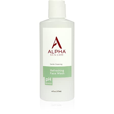 Alpha Skin Care – Refreshing Face Wash, Gentle Cleanser, Restores Ideal PH, for All Skin Types 6-Ounce Packaging May Vary