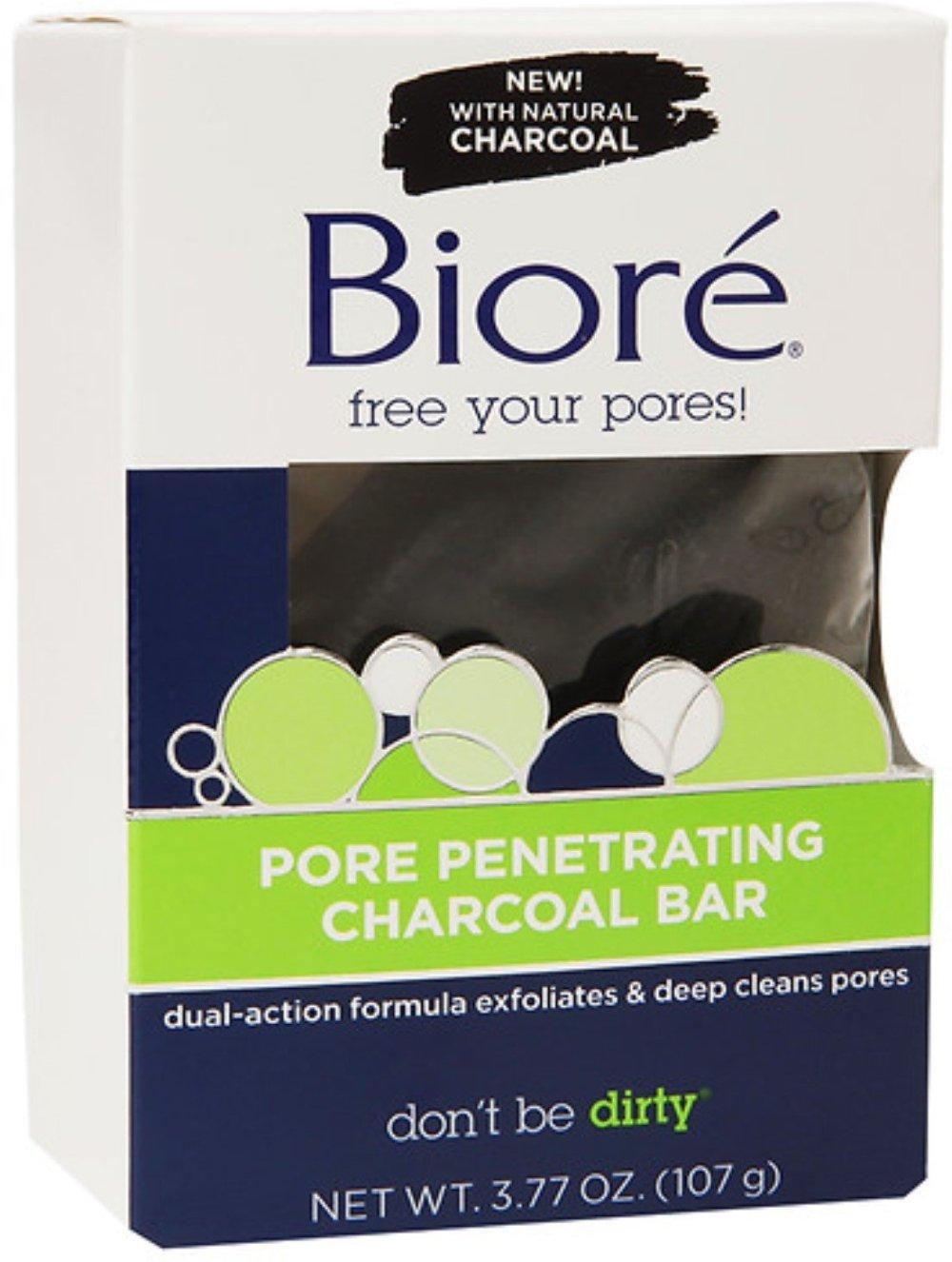 Biore Charcoal Scrubbing Size 3.77z Biore'Charcoal Scrubbing Bar 3.77z
