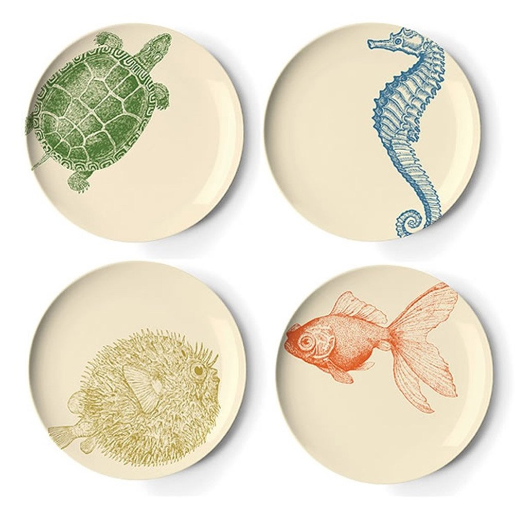Amazon.com | Thomas Paul Sea Life 9-Inch Side Plates Set of 4 Salad Plates Salad Plates  sc 1 st  Amazon.com & Amazon.com | Thomas Paul Sea Life 9-Inch Side Plates Set of 4 ...