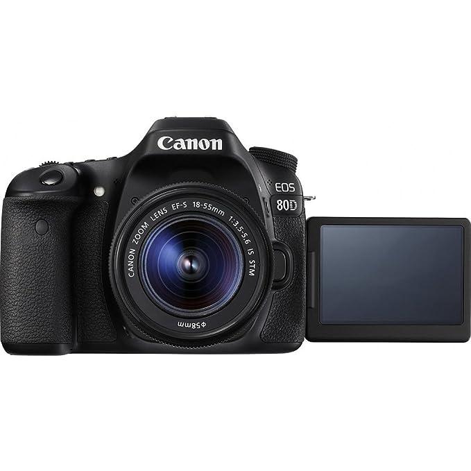 Canon EOS 80D CMOS DSLR cámara + EF-S 18-55 mm IS STM & 75-300 mm ...