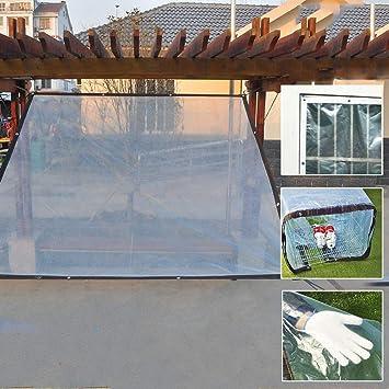 ZHANGGUOHUA Espesar Tela plástica Transparente Impermeable Impermeable Impermeable Protector Solar Lona Ventana Ventana Mascota Suculentas Aislamiento Impermeable (Color : Transparent, Size : 1x1m): Amazon.es: Hogar