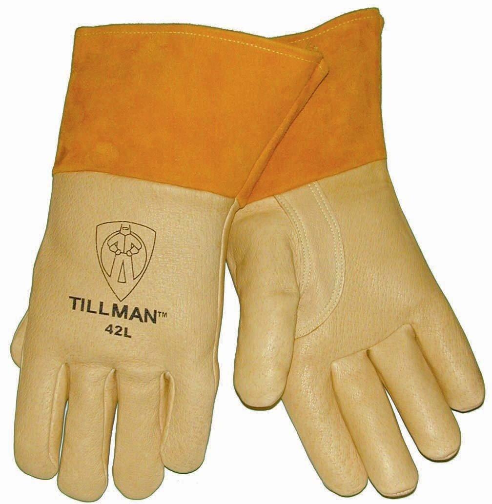 Tillman 42 Top Grain Pigskin Foam Lined MIG Welding Gloves - Large