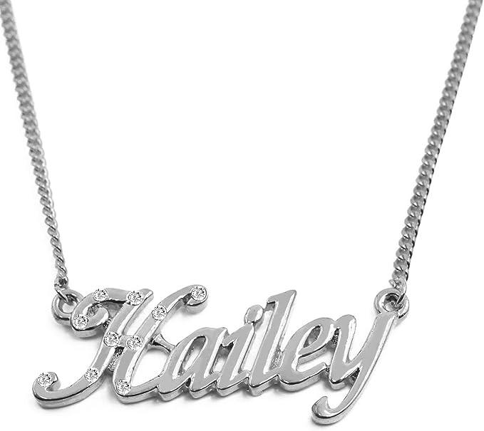 18K Gold PlatedCurb Chain Bridesmaid Pendant Gift Name Necklace Heidi