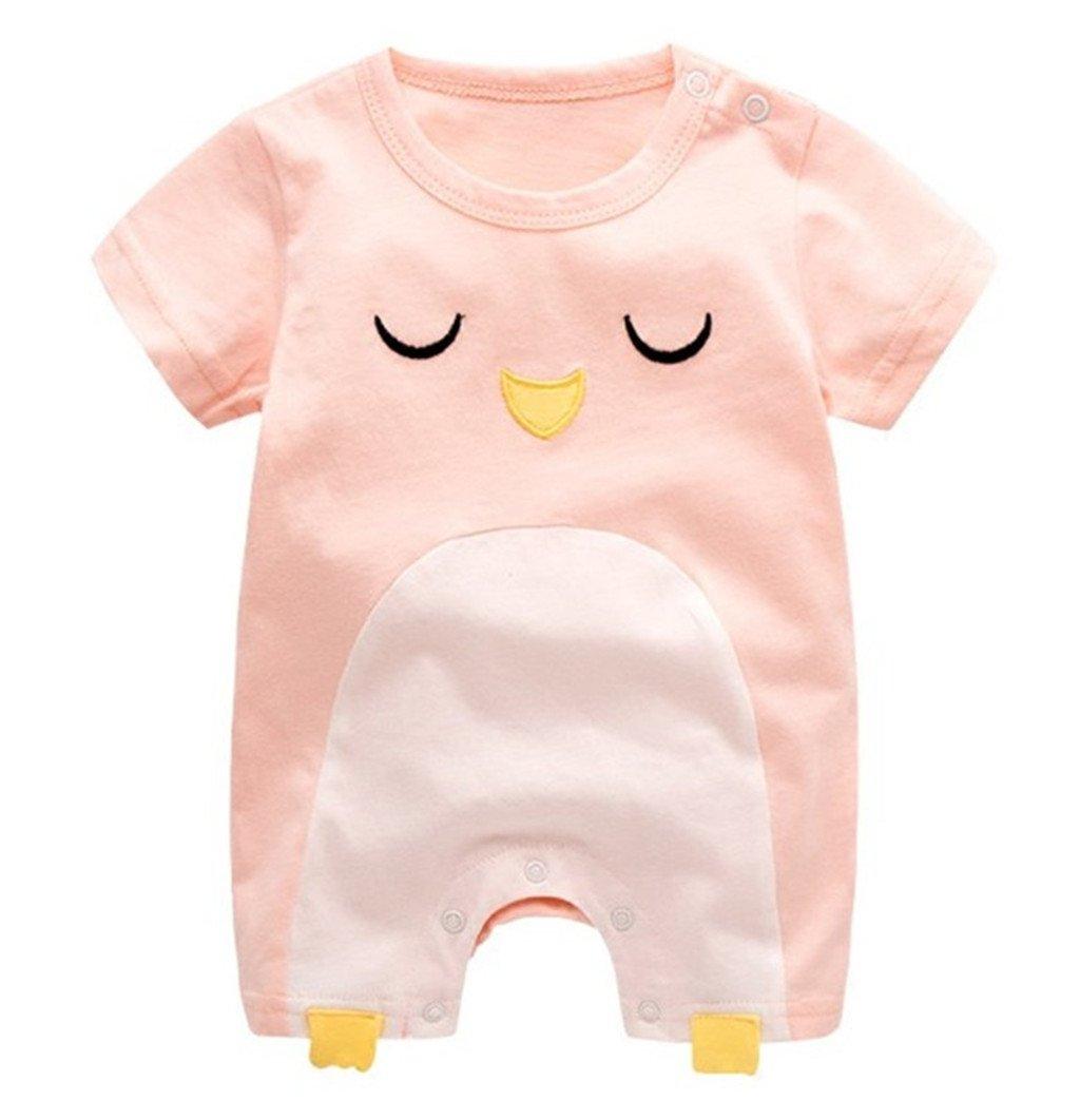 Vine Reci/én nacido Beb/és chicas Chicos del verano de manga corta de algod/ón mameluco Equipo infantil de dibujos animados Sleepsuit,0-3 meses