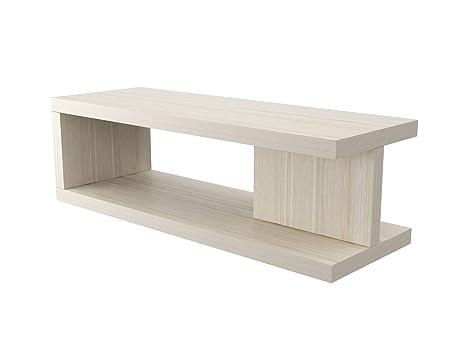 Tavolini In Legno Bianco : Ve italy tavolino basso salotto moderno in legno bianco made in
