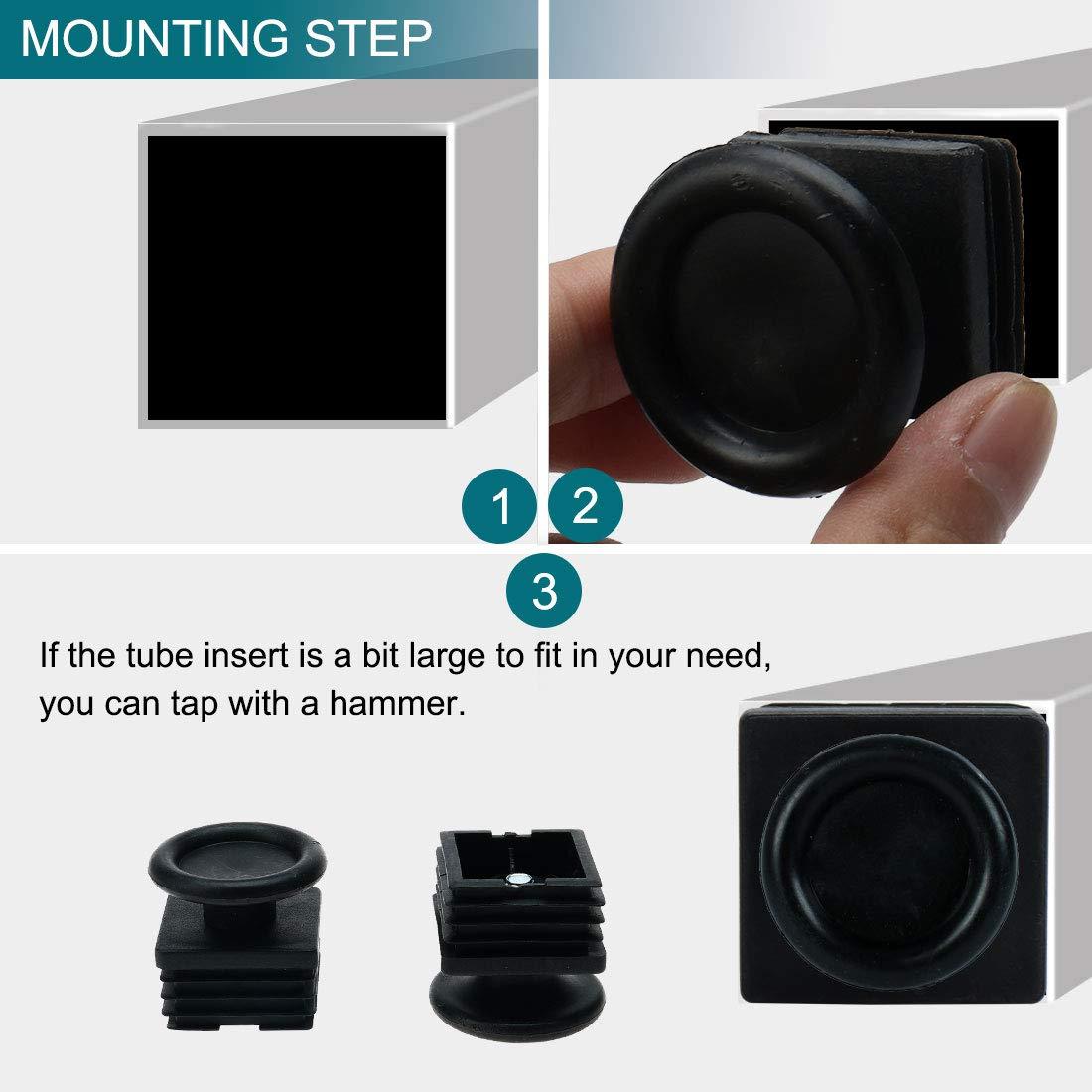 Sourcingmap Patas de nivelaci/ón 40 x 40 mm, cuadradas, 10 unidades