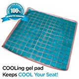 Soft&Care COOLING GEL SEAT CUSHION PAD Keeps COOL Your Seats! Premium Quality COOL PAD – Best to Make COOL Your Cushions Kitchen Stool Chair Pad, Chairs, Car Seats, Memory Foam Seats, etc.
