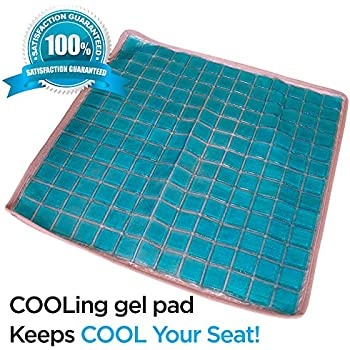 Amazon Com Cool Seat Pad Passive Cooling Chair Cushion