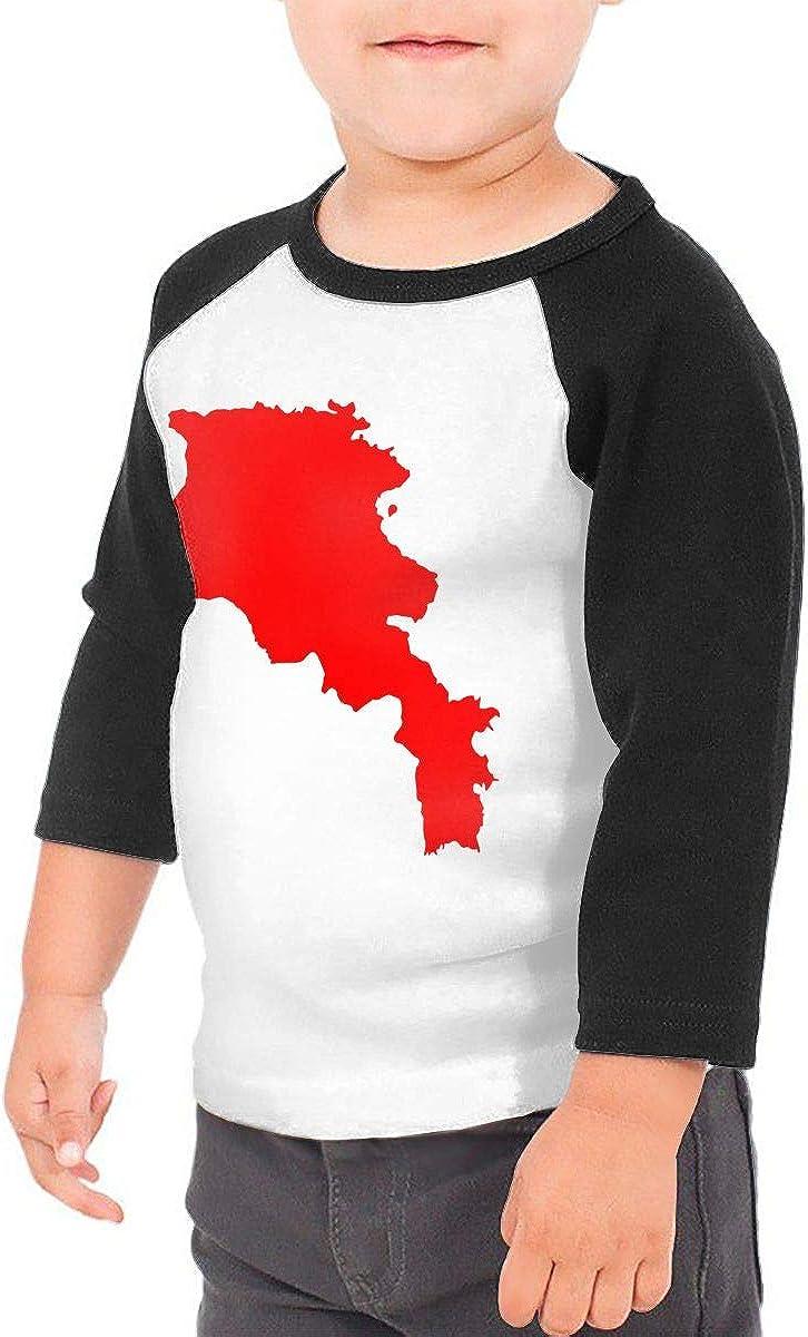 QPKMRTZTX0 Boys Girls Kids /& Toddler Armenia Map Long Sleeve Tees 100/% Cotton
