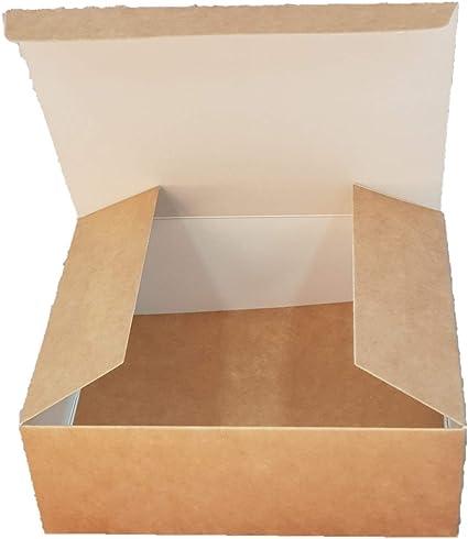 Pack de 5 x cajas de regalo auto montaje, 15 cm largo x 12 cm ancho x 5,5 cm profundo. Genial para dulces, artículos de aseo, bufandas, joyería, etc. (caja C): Amazon.es: