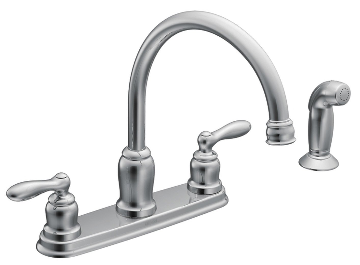 Moen ca87888 high arc kitchen faucet from the caldwell collection chrome touch on kitchen sink faucets amazon com