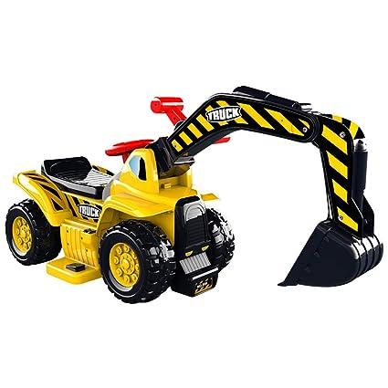 Juguetes Xiaomei Pedal para niños Amarillo Super pequeño Excavadora agrícola Tractor (Color : A)