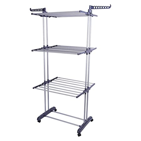 Foldable Clothes Drying Rackroller Type Extra Large 3 Tier Clothes