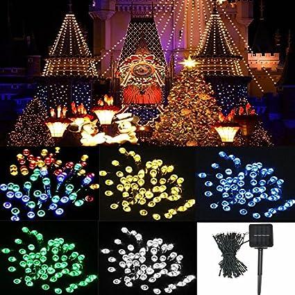 8M 60 LED Solar Power String Fairy Light Outdoor Party Wedding Christmas Garden