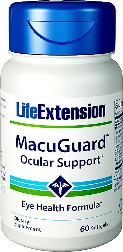 Life Extension - Ayuda ocular de MacuGuard - 60Cápsulas blandas