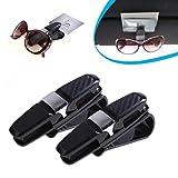 OVERMAL 2 Pack Glasses Holders for Car Sun Visor