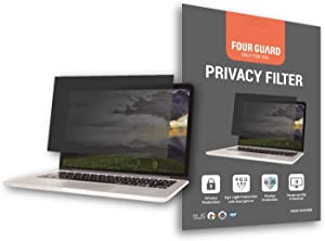 Four Guard Privacy Screen Filter for Laptop-Notebook 14.0 Inch 16:9 Widescreen - Privacy Protection Blue Light Reduction Anti Glare Anti Scratch Protector Film