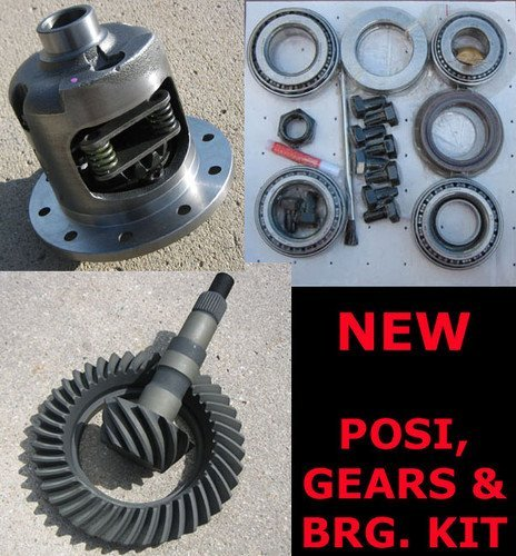 GM 55-64 Chevy Drop-Out Third Member Rearend Posi, Gear, Bearing Kit Package - 3.73 Ratio
